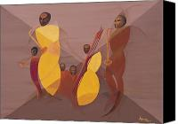 Signed Painting Canvas Prints - Mango Jazz Canvas Print by Kaaria Mucherera