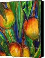 Mango Canvas Prints - Mango Tree Canvas Print by Julie Kerns Schaper - Printscapes