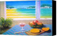 Mangoes Canvas Prints - Mangoes by the Sea Canvas Print by Ky Wilms