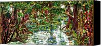 Impressionism Tapestries - Textiles Canvas Prints - Mangroove Canvas Print by Samuel Miller