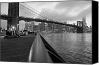 Nina Mirhabibi Canvas Prints - Manhattan Bridge Canvas Print by Nina Mirhabibi