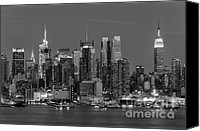 Structures Canvas Prints - Manhattan Twilight IV Canvas Print by Clarence Holmes