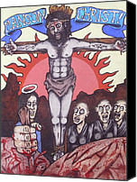 Susan Drawings Canvas Prints - Manson Christ Canvas Print by Sam Hane