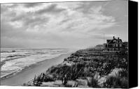 Jersey Shore Canvas Prints - Mantoloking Beach - Jersey Shore Canvas Print by Angie McKenzie