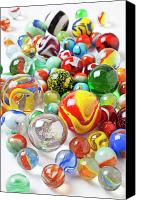 Toys Canvas Prints - Many marbles  Canvas Print by Garry Gay