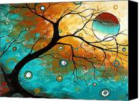 Aqua Canvas Prints - Many Moons Ago by MADART Canvas Print by Megan Duncanson