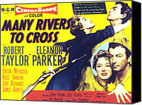 1955 Movies Canvas Prints - Many Rivers To Cross, Eleanor Parker Canvas Print by Everett