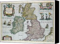 Maps Canvas Prints - Map of Britain Canvas Print by English school