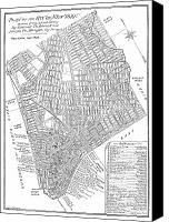 Manhattan Map Canvas Prints - Map Of New York City, 1803 Canvas Print by Granger
