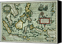 Maps Canvas Prints - Map of the East Indies Canvas Print by Dutch School