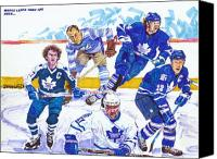 Toronto Maple Leafs Canvas Prints - Maple Leafs Thru The Ages Canvas Print by Brian Child