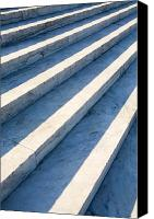 Washington Dc Canvas Prints - Marble Steps, Jefferson Memorial, Washington DC, USA, North America Canvas Print by Paul Edmondson
