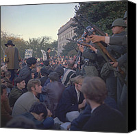 Anti-war Canvas Prints - March On The Pentagon. Military Police Canvas Print by Everett