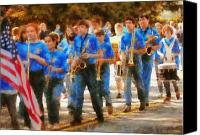 Scared Canvas Prints - Marching Band - Junior Marching Band  Canvas Print by Mike Savad