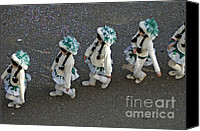 Four Women Canvas Prints - Marching in a row - German Carnival procession Canvas Print by Matthias Hauser