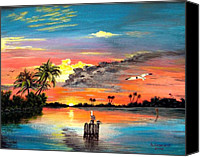 Marco Mixed Media Canvas Prints - Marco Island Study Canvas Print by Riley Geddings