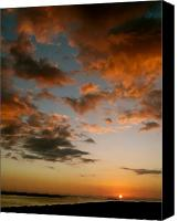 Ocean Pyrography Canvas Prints - Marco Island Sunset Canvas Print by Jan Fontecchio Perley