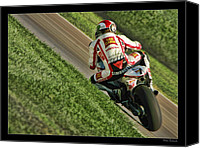 Motogp Canvas Prints - Marco Simoncelli Green Grass Ride Canvas Print by Blake Richards