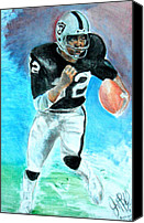 Jon Baldwin Art Canvas Prints - Marcus Allen Raiders  Canvas Print by Jon Baldwin  Art