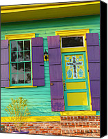 Wild Special Promotions - Mardi Gras House Canvas Print by Jeanne  Woods