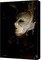 Potography Canvas Prints - Mardi Gras Mask Canvas Print by Christopher Holmes