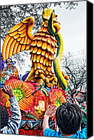 Asking Canvas Prints - Mardi Gras Parade 2 Canvas Print by Steve Harrington