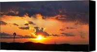 Sunset Canvas Prints - Marfa Windmill 2 Canvas Print by Skip Hunt