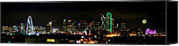 Margaret Canvas Prints - Margaret Hunt Hill Bridge and Dallas Skyline Canvas Print by Wendy Emel