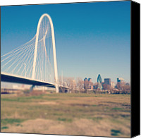 Gulf Coast States Canvas Prints - Margaret Hunt Hill Bridge Canvas Print by David Kozlowski