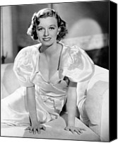 Satin Dress Canvas Prints - Margaret Sullavan, 1935 Canvas Print by Everett