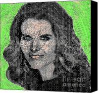 First Lady Digital Art Canvas Prints - Maria Shriver Canvas Print by Gerhardt Isringhaus