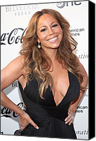 Apollo Theater Canvas Prints - Mariah Carey At Arrivals For Apollo Canvas Print by Everett