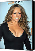 Alice Tully Hall At Lincoln Center Canvas Prints - Mariah Carey At Arrivals For New York Canvas Print by Everett