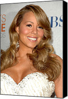 Lip Gloss Canvas Prints - Mariah Carey In The Press Room Canvas Print by Everett