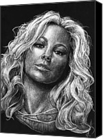 Casa Grande Canvas Prints - Mariah Carey Canvas Print by Michael Trujillo