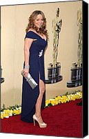 Academy Awards Oscars Canvas Prints - Mariah Carey Wearing A Valentino Gown Canvas Print by Everett