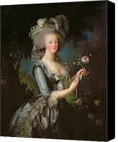 Rose Flower Canvas Prints - Marie Antoinette Canvas Print by Elisabeth Louise Vigee Lebrun