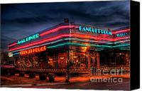 Photographers Atlanta Canvas Prints - Marietta Diner Canvas Print by Corky Willis Atlanta Photography
