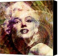 Marilyn Monroe  Canvas Prints - Marilyn Canvas Print by Barbara Berney