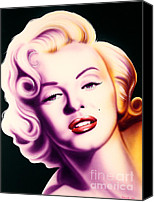 Silver Screen Actress Canvas Prints - Marilyn Canvas Print by Bruce Carter