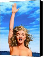 Norma Jean Canvas Prints - Marilyn by the Sea Canvas Print by James Robertson