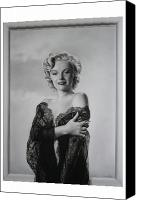 Marilyn Munroe Canvas Prints - Marilyn in lace Canvas Print by Terry Stephens