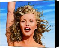 Marilyn Monroe  Canvas Prints - Marilyn Canvas Print by James Robertson