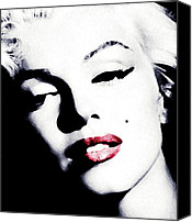 Marilyn Monroe  Canvas Prints - Marilyn Canvas Print by Laurence Adamson
