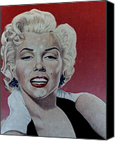 Marilyn Monroe  Canvas Prints - Marilyn Canvas Print by Maria Arango