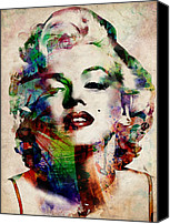 Modern Digital Art Canvas Prints - Marilyn Canvas Print by Michael Tompsett