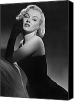 1950s Fashion Canvas Prints - Marilyn Monroe Canvas Print by American School