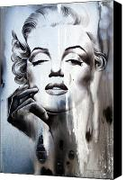 Marilyn Monroe  Canvas Prints - Marilyn Monroe Canvas Print by Fatima Azimova