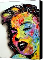 Marilyn Monroe  Canvas Prints - Marilyn Monroe II Canvas Print by Dean Russo