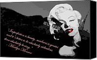 Sign Canvas Prints - Marilyn Monroe Imperfection is Beauty Canvas Print by Brad Scott